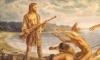 Caramuru naufragou e viveu com os índios tupinambás